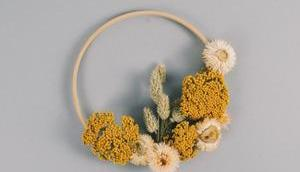 Schneller Kranz Trockenblumen