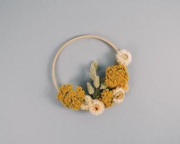 Schneller DIY Kranz aus Trockenblumen