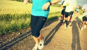 Laufen hohem Puls