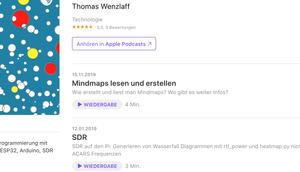 Podcast auch Apple-Store verfügbar Neue Folge Thema: Mindmap