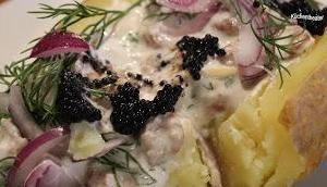Ofenkartoffel Krabben Kaviar