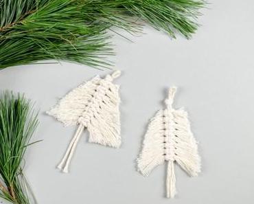 Mini-Tannenbaum: DIY Weihnachtsschmuck aus Makramee
