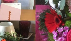 Friday-Flowerday oder Weihnachtszeit Lilamalerie #13: ganz besonderer Strauß