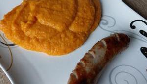 Karottenpüree Bratwurst