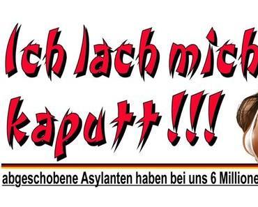 Abgeschobene Asylanten haben in Deutschland 6 Millionen Euro Schulden