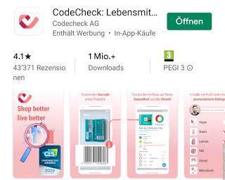 App der Woche - CodeCheck