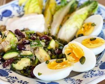 Leicht & Lecker: Zucchini-Quinoa-Pfanne mit Bohnen und Ei
