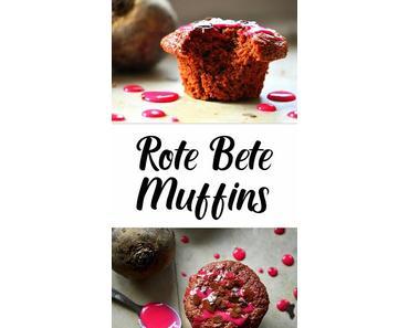 Rote Bete Muffins mit Cranberries