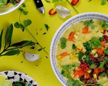 Mexikanische Maissuppe mit Hack