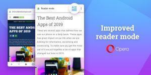 Browser Opera 56 bietet neue Leseansicht unter Android OS