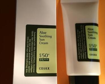 [Werbung] COSRX Aloe Soothing Sun Cream LSF 50+ PA+++