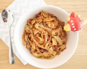 Einfache Familienküche: Krautfleckerl