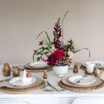 Blumengesteck DIY für die frühlingshafte Tischdeko