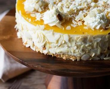 Mango-Skyr-Cheesecake mit Fruchtspiegel ohne Backen
