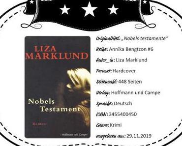 Liza Marklund – Nobels Testament