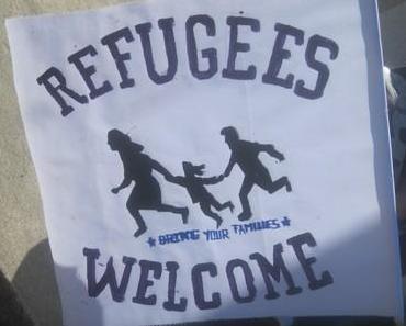 Antirassistisches Einkaufen in Hennigsdorf/Oberhavel – Flüchtlinge streiken!