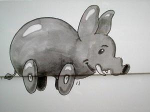 bunte elefantenrunde