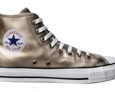 #Converse Chuck Taylor All Star #Chucks 1V197 Hi Gold Leder HI