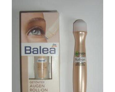 Garnier vs. Balea getönter Augen Roll-Om