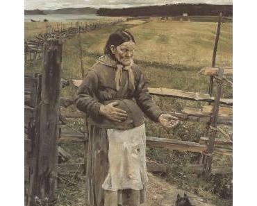 Akseli Valdemar Gallén-Kallela, Alte Frau mit Katze