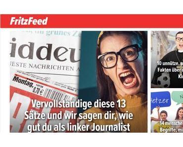 Fritzfeed: Eine billige, braune Buzzfeed-Kopie