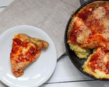 Kartoffelschalenpizza – Pizza basierend auf Kartoffeln mit dreierlei Käse