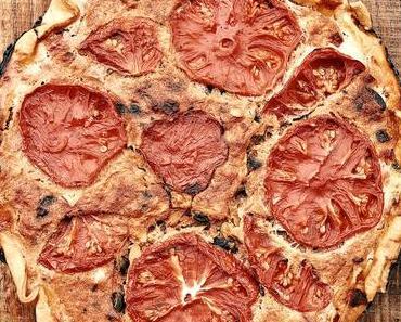 Tarte rustique à la tomate zum #trostkochen für Frankreich