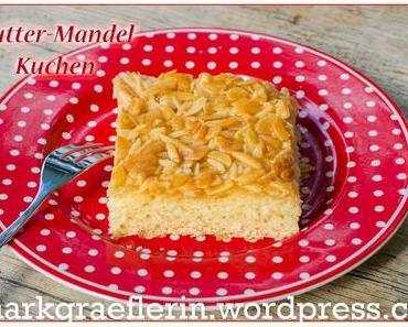 Butter-Mandel-Kuchen vom Blech #Hefeteig