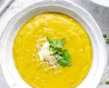 Erbsensuppe – Aromatisch gewürzt mit Curry