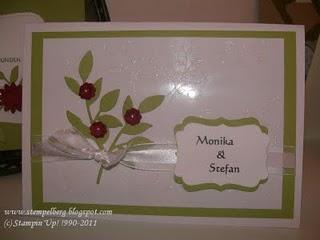Karte zur Hochzeit