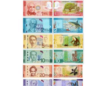Costa Rica: Neue Banknoten mit schönem Design