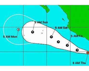 Potentieller Tropischer Sturm CALVIN kommt wahrscheinlich nicht nach Mexiko, Revillagigedo-Inseln möglicherweise gefährdet