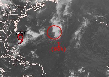 Tiefdruckgebiet östlich von BRET wird wahrscheinlich zum Tropischen Sturm CINDY
