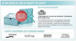 Preview: Douglas Box of Beauty August 2011