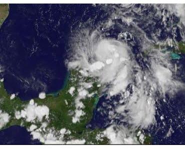 Tropischer Sturm DON 2011 zieht an Yucatán vorbei in den nördlichen Golf von Mexiko
