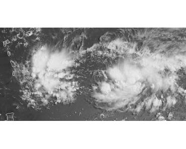 Potentieller Tropischer Sturm EMILY bewegt sich im Atlantik auf die Windward-Inseln zu