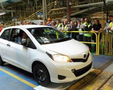 Produktionspremiere im Toyota-Werk Frankreich