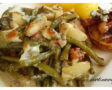 Birnen Bohnen und Speck.........mit Gorgonzola