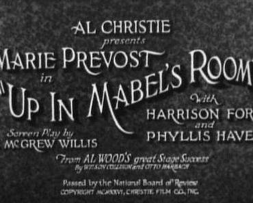 UP IN MABLE'S ROOM (1926)