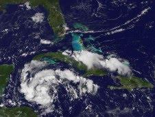 Atlantik aktuell: Tropensturm KARL bedroht Halbinsel Yucatán (Mexiko) mit NASA-HQ-Foto