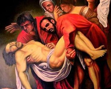 """""""Die Grablegung Christi"""" von Caravaggio in Madrid"""