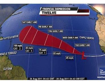 Tropisches Tief #12 / Tropischer Sturm / Hurrikan KATIA: Verlauf und Entwicklung laut weather.com