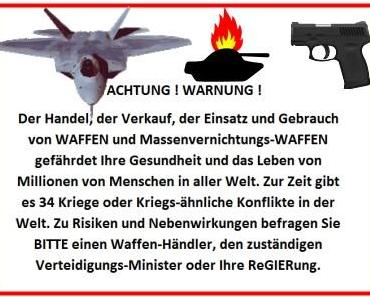 Warnhinweise sollen vor Massenvernichtungs-Waffen warnen