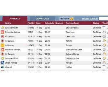 Tropischer Sturm / Hurrikan MARIA & Neufundland, Flughafen St. John's: Flüge gecancelt, gestrichen, verspätet oder Flughafenschließung?