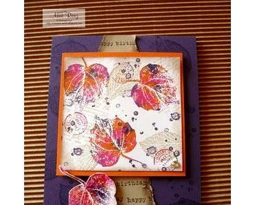 Rückblick Workshop Herbstkarten/ - verpackungen II.