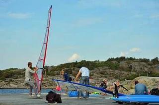 Windsurfen in den Schären Göteborgs