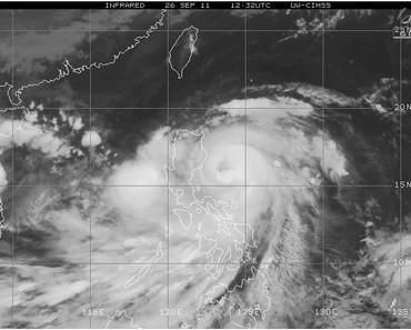 Taifun NESAT jetzt fast über Nord-Philippinen