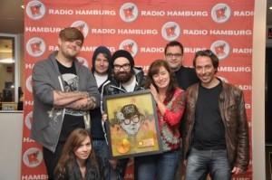 Jupiter Jones danken Radio Hamburg für Unterstützung