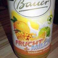 Bauer FRUCHT + MILCH Sanddorn-Orange bei brandnooz