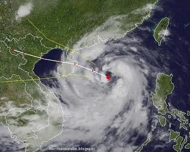 Taifun NESAT wandert nach Hainan (China) und Nord-Vietnam